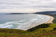 View of the beach from Florence Hill, New Zealand Royalty Free Stock Image