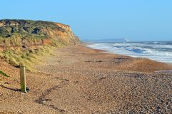 View of Hengistbury Head in Christchurch, Dorset Royalty Free Stock Images