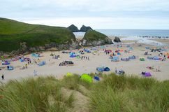 Holywell bay in Cornwall Stock Image
