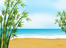 A view of the beach. Illustration of the view of the beach Royalty Free Stock Image