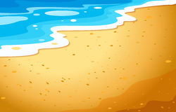 A view of the beach. Illustration of a view of the beach Stock Images