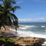 View of a beach in Kovalam. Beach Landscape in Kovalam, India royalty free stock images