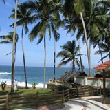 View of a beach in Kovalam. Kovalam, India - June 02, 2004 : Tropical Beach in Kovalam, India royalty free stock photos