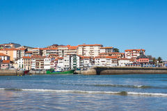 View of the beach of Lekeitio. With clear blue sky, Vizcaya, Basque Country, Spain Royalty Free Stock Images