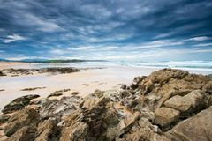 View of the beach of Liencres Royalty Free Stock Photo