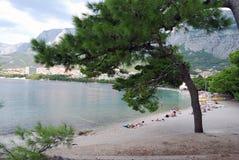 View of the beach in Makarska Riviera Stock Photo