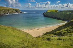 View of the beach at Malin Beg, Co. Donegal.  royalty free stock photography
