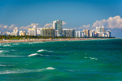 View of the beach in Miami Beach, Florida Stock Photos