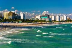 View of the beach in Miami Beach, Florida Stock Image