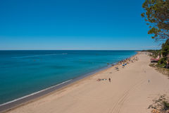 View of beach Miami Platja, Spain. Sandy beach Miami Platja, season holiday Stock Images