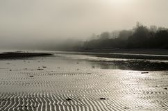 A view of a beach on a misty day in Autumn, Latvia. Jurmala royalty free stock photos