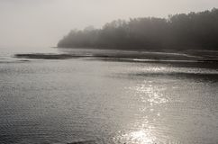 A view of a beach on a misty day in Autumn, Latvia. Jurmala stock images