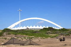 View from beach of Moses Mabhida Stadium Royalty Free Stock Photo