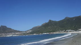 View of the beach and mountains Stock Image