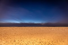 View from beach at night with stars royalty free stock images