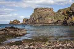 View from beach at North Berwick, Scotland Royalty Free Stock Images