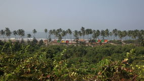 View of the beach in North Goa Arambol India stock footage