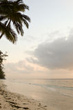 View of the beach and ocean at sunrise. In Bamburi, Kenya Royalty Free Stock Photography
