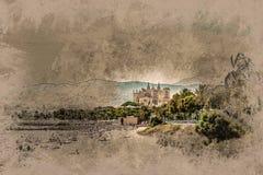 View of the beach of Palma de Mallorca Royalty Free Stock Photo