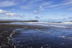 View of the beach of the peninsula Tjornes, Iceland Royalty Free Stock Photo