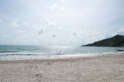 View of a beach (Phangan Island) Royalty Free Stock Photo