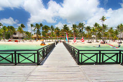 View of the beach from pier Royalty Free Stock Photos