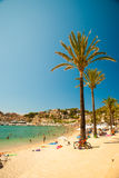 View of the beach of Port de Soller Stock Photography