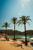 View of the beach of Port de Soller Stock Images