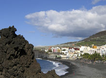 View at the beach of Puerto Naos, La Palma Stock Images