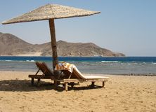 View from the beach on the Red Sea Royalty Free Stock Image