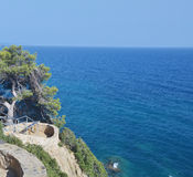View of beach  Costa Brava Catalonia Spain Royalty Free Stock Images