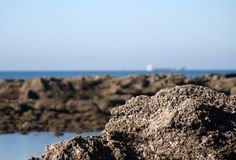 View of the beach and rocks Stock Photo
