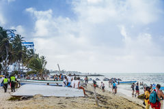 View from a Beach of San Andres Island, Colombia Stock Image