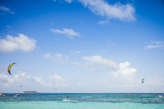 View from a Beach of San Andres Island, Colombia Royalty Free Stock Images