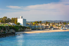View of the beach in Santa Cruz  Royalty Free Stock Photo