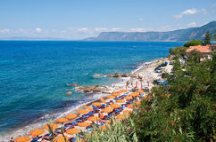 View of the beach of Scilla, Calabria, Italy stock photography