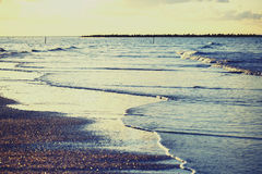 View of beach of the sea, Damietta, Egypt. Royalty Free Stock Image