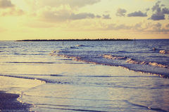 View of beach of the sea, Damietta, Egypt Royalty Free Stock Photos
