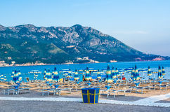 View on beach sea and mountain in Montenegro Royalty Free Stock Image