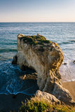 View of the beach and a sea stack at El Matador State Beach, Mal Stock Photo