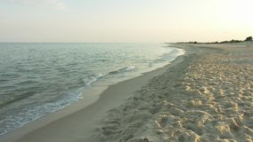 The view of the beach and sea views.  stock footage