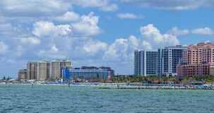 Skyline clearwater beach florida from ocean royalty free stock photo