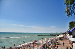 View of the beach in the Sochi Royalty Free Stock Photos