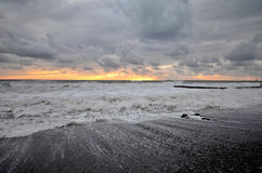 View of the beach in the Sochi Stock Images