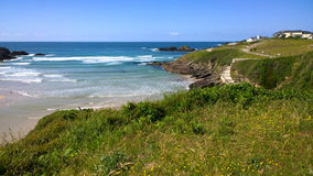 View of the beach in Tapia de Casariego in Asturias, Spain Royalty Free Stock Photography