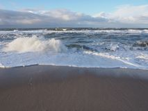 View from the beach to the atlantic ocean in sylt Stock Photos