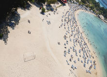 View of the beach from top Stock Photos