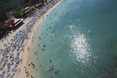View of the beach from top Stock Images