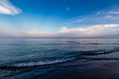 View of Beach in Torremolinos in evening Royalty Free Stock Photo