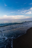 View of Beach in Torremolinos in evening Royalty Free Stock Photography